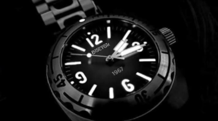Vostok Amphibian 1967 Black and White Lume